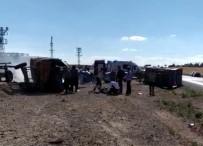Kırşehir'de Traktörle Tır Çarpıştı 2 Yaralı