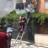 Yangında Mahsur Kalan İki Kişiyi İtfaiye Kurtardı