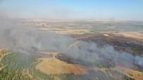 Şanlıurfa'da Yangına Müdahale Havadan Görüntülendi