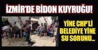 SU KESİNTİSİ - Yine CHP, yine su sorunu! İzmirliler bidonlara su doldurup evine götürdü