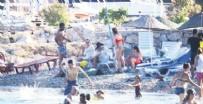 SELIMIYE - Burçin Terzioğlu halk plajına gitti!
