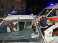 Düzce'de Zincirleme Trafik Kazası Açıklaması 4'Ü Çocuk 1'İ Hamile Toplam 7 Yaralı