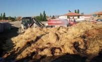 Tomarza'da Saman Balyaları Alev Aldı