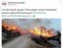 YANGINA MÜDAHALE - HDP ve Tele1'den Lice'deki yangında ortak provokasyon!