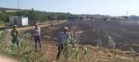 Lapseki'de Buğday Tarlasında Yangın