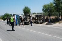 Süt Tankeri Yola Devrildi Açıklaması 1 Yaralı