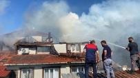 Düzce'de Samanlıkta Başlayan Yangın 3 Katlı Evi Küle Döndürdü
