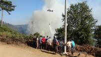 Köylüler Yangın Söndürme Çalışmalarını Üzüntüyle İzledi