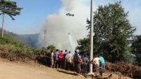 Köylüler Yangın Söndürme Çalışmalarını Üzüntüyle İzliyor