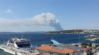 ÇANAKKALE BOĞAZı - Çanakkale'de büyük yangın! Dumanlar her yeri kapladı, müdahale sürüyor...