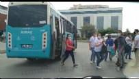 HALK OTOBÜSÜ - Esenyurt'ta fazla yolcu alan otobüs trafikten men edildi