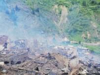 Artvin'in Yusufeli İlçesi Dokumacılar Köyü Sahlepçiler Mahallesindeki Yangın Kontrol Altına Alındı