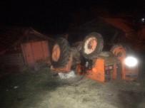 Balya Yüklü Traktör Devrildi Açıklaması 1 Yaralı