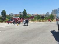 Uçuruma Yuvarlanan Otomobilin Sürücüsü Ambulans Helikopterle Şehir Merkezine Getirildi