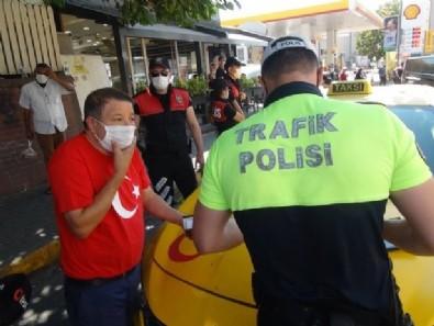 İstanbul'da akılalmaz olay! Ceza yiyince maskeyi yere atıp taksiye bindi...