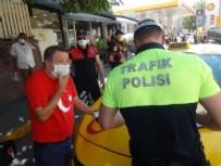 İSTANBUL VALİLİĞİ - İstanbul'da akılalmaz olay! Ceza yiyince maskeyi yere atıp taksiye bindi...