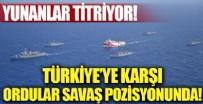 EGE DENIZI - Yunanlar panik oldu! Savaş gemileri ve uçakları hazır. Türkiye'ye karşı...