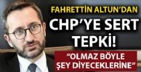 BAŞKAN ADAYI - Fahrettin Altun'dan CHP'ye 'BIDEN' tepkisi: Olmaz böyle şey diyeceklerine...