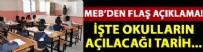 ORTAÖĞRETİM - MEB yeni eğitim öğretim yılı takvimini açıkladı!