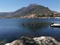 Su Altı Arama Kurtarma Ekibi Eğirdir Gölü'nde Su Altı Temizliği Yaptı