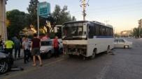 Mevsimlik Tarım İşçilerini Taşıyan Otobüsle Minibüs Çarpıştı Açıklaması 6 Yaralı