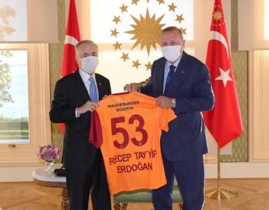 Erdoğan, G.Saray Başkanı'nı kabul etti
