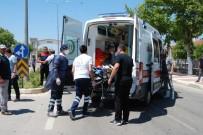 Bayramiç'te Trafik Kazası Açıklaması 1 Yaralı