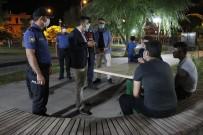 Kaymakam Bayram, Yeşilhisar'daki Parklarda Maske Denetimi Yaptı