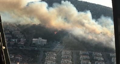 Ünlü tatil merkezi Çeşme'de yangın!