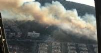 HELIKOPTER - Ünlü tatil merkezi Çeşme'de yangın!