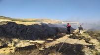 Şanlıurfa'da Tonlarca Saman Yandı