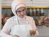 EMINE ERDOĞAN - Emine Erdoğan mutfağa girip aşure yaptı