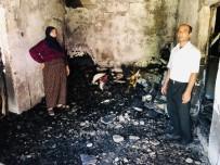 Mardin'de Evleri Küle Dönen Mağdur Aile Yardım Bekliyor