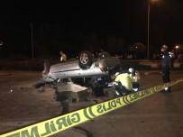 Cam Yüklü Kamyonete Çarpan Otomobil Takla Attı Açıklaması 1 Ölü, 3 Yaralı