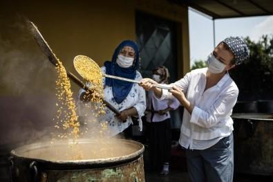 Atalık Sarı Buğday Kazanlarda Kaynadı, Güneşin Kollarına Bırakıldı
