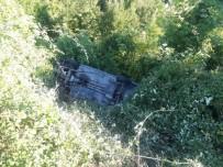 Kastamonu'da Otomobil Şarampole Uçtu Açıklaması 1 Yaralı
