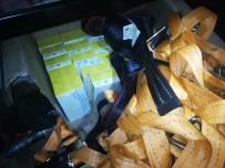 Sarp Sınır Kapısında 53 Bin Lira Değerinde İçki Ve Sigara Ele Geçirildi