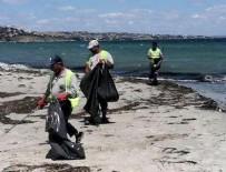 MARMARA EREĞLISI - Tekirdağ'ın tatil beldesinde bayram sonrası sahilden 500 ton çöp toplandı