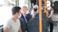 PAZAR ESNAFI - İçişleri Bakanı Süleyman Soylu Mamak'ta halk otobüsüne bindi!
