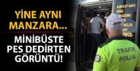 TOPLU ULAŞIM - Yine aynı manzara! Minibüste pes dedirten görüntü..