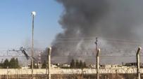 Resulayn'da Çıkan Yangın Ceylanpınar'dan Görüldü