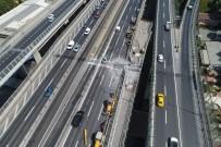 TRAFİK YOĞUNLUĞU - Haliç Köprüsü'ndeki çalışmalar trafiği kilitledi