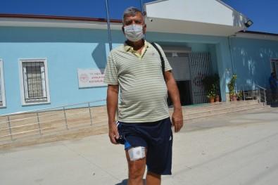 Ayvalık'ta darp edilen hemşireleri kurtarmak isteyen hasta bıçaklandı