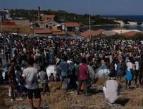 SIĞINMACI - İki kez yanan Moria Kampı'nda sığınmacılar isyanda!