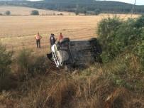 Kastamonu'da Şarampole Yuarlanan Otomobilin Sürücüsü Yaralandı