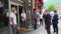 Artvin Valisi Doruk İl Genelinde Vakaların En Fazla Olduğu Borçka İlçesinde Sokakta Maske Denetimine Çıktı