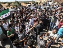İNGILIZCE - İdlib'te Türkiye için sokağa döküldüler!