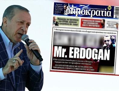 Başkan Erdoğan'a hakaret eden Yunan Gazetesi Dimokratia'nın sitesi hacklendi