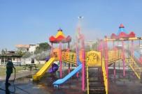Ceyhan'da Parklar Dezenfekte Edildi