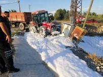 Elektrik Trafosuna Çarpan Traktör Alev Aldı Açıklaması 1 Yaralı